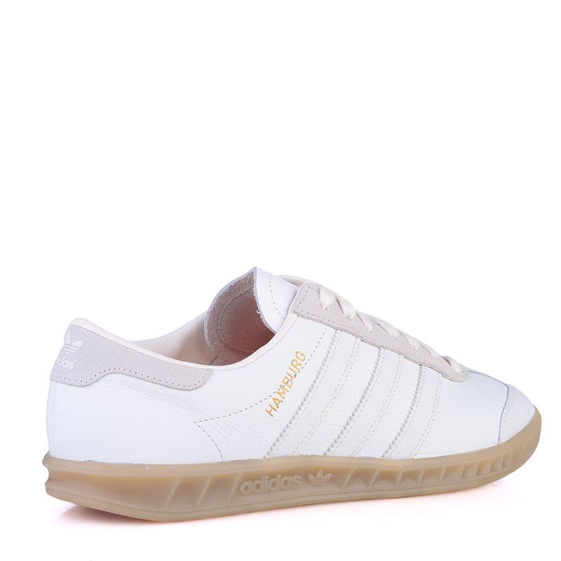 мужские белые  кроссовки adidas originals hamburg S74836 - цена, описание, фото 2