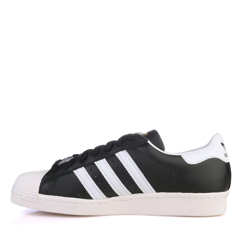 Купить мужские белые  кроссовки adidas superstar 80s в магазинах Streetball изображение - 3 картинки