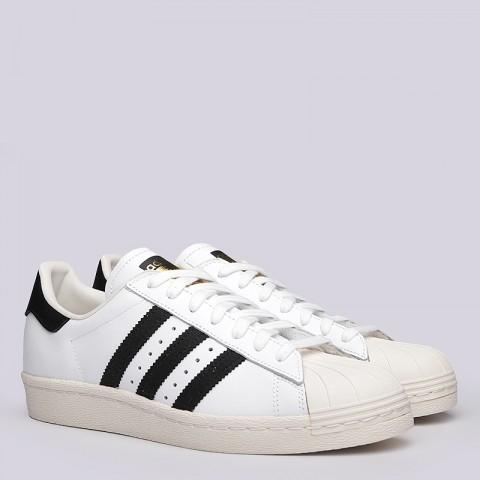 мужские белые  кроссовки adidas superstar 80s G61070 - цена, описание, фото 1