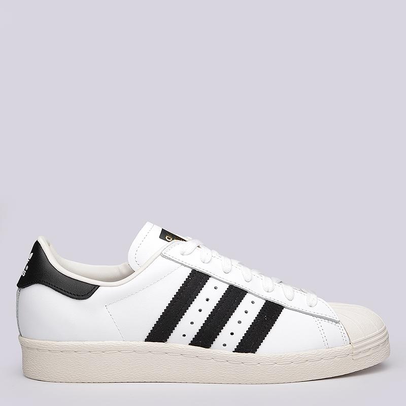 мужские белые  кроссовки adidas superstar 80s G61070 - цена, описание, фото 2