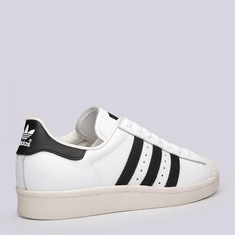 мужские белые  кроссовки adidas superstar 80s G61070 - цена, описание, фото 3