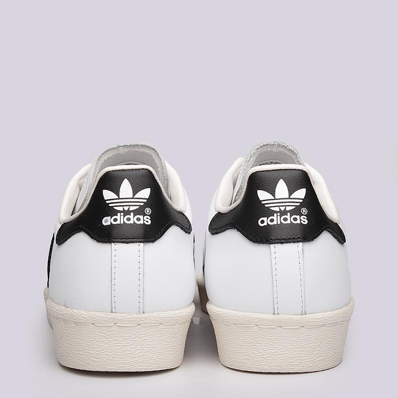 мужские белые  кроссовки adidas superstar 80s G61070 - цена, описание, фото 6