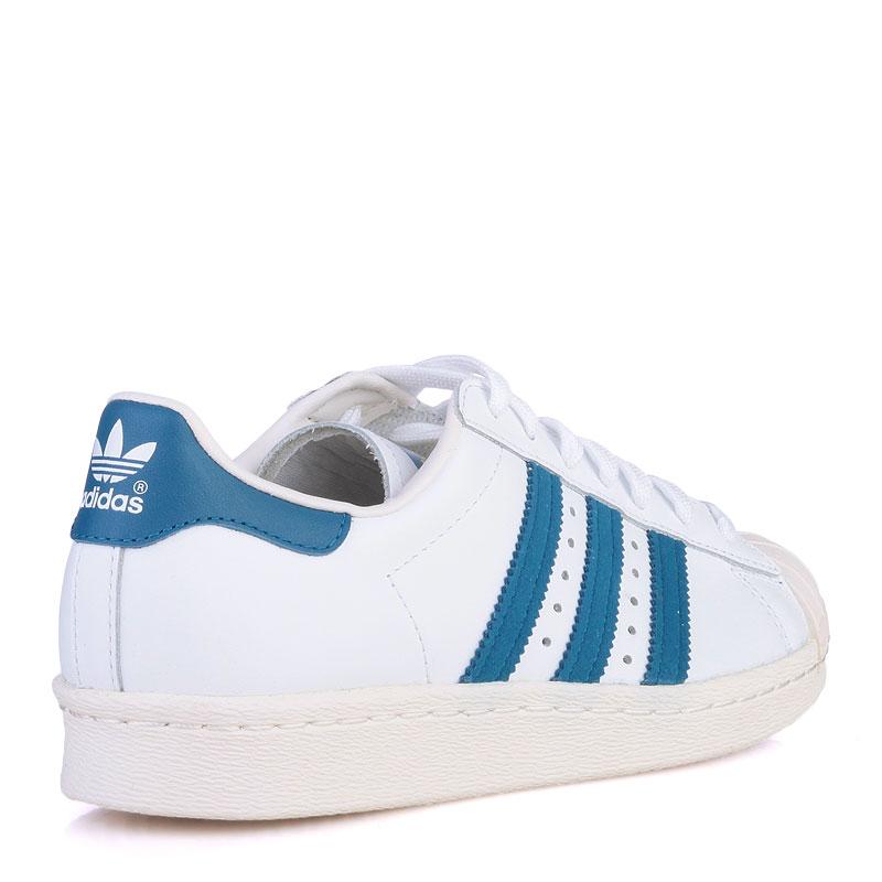 Купить мужские белые  кроссовки adidas superstar 80s в магазинах Streetball изображение - 2 картинки