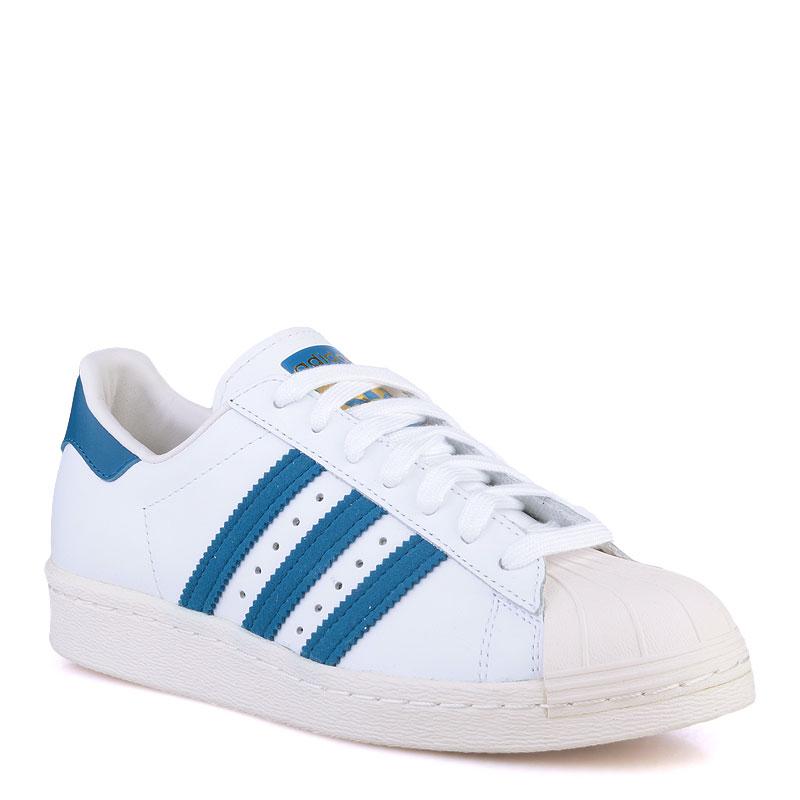 Купить мужские белые  кроссовки adidas superstar 80s в магазинах Streetball изображение - 1 картинки