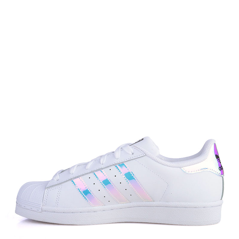 Купить детские белые  кроссовки adidas superstar j в магазинах Streetball изображение - 3 картинки