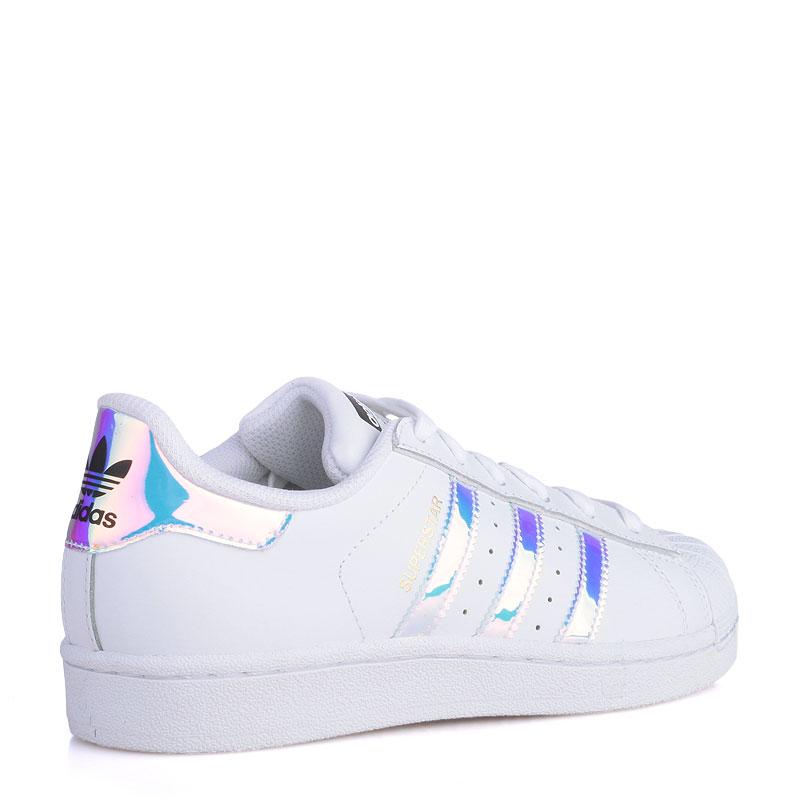 Купить детские белые  кроссовки adidas superstar j в магазинах Streetball изображение - 2 картинки