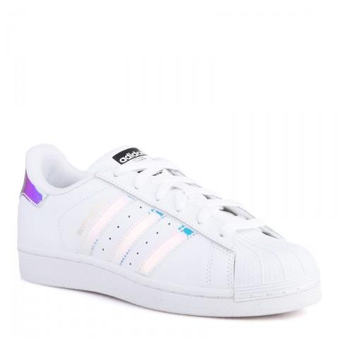 Купить детские белые  кроссовки adidas superstar j в магазинах Streetball - изображение 1 картинки