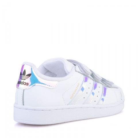детские белые  кроссовки adidas superstar cf AQ6279 - цена, описание, фото 2