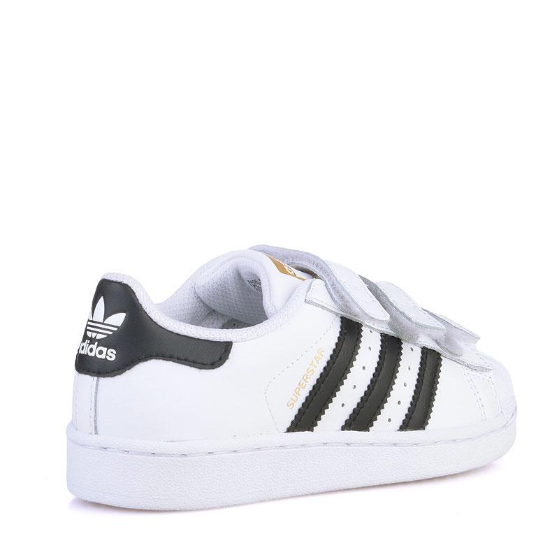 детские белые  кроссовки adidas superstar B26070 - цена, описание, фото 2