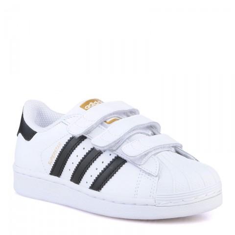 детские белые  кроссовки adidas superstar B26070 - цена, описание, фото 1
