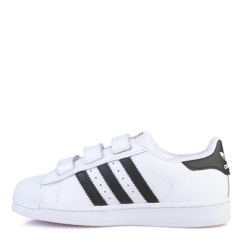 детские белые  кроссовки adidas superstar B26070 - цена, описание, фото 3