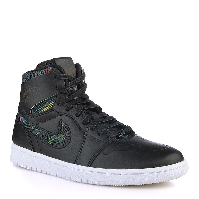 Кроссовки Air Jordan 1 Retro High Nouv BHMКроссовки lifestyle<br>Кожа, синтетика, текстиль, резина<br><br>Цвет: Черный, белый<br>Размеры US: 7;7.5;8;9<br>Пол: Мужской