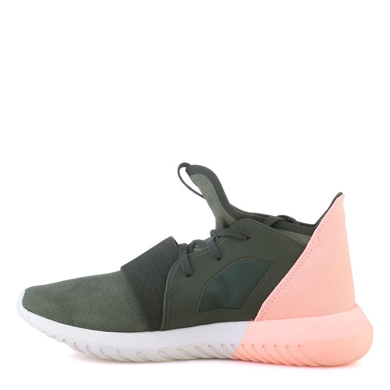 Купить женские зеленые  кроссовки adidas tubular defiant w в магазинах Streetball изображение - 3 картинки