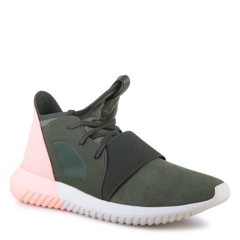 Купить женские зеленые  кроссовки adidas tubular defiant w в магазинах Streetball изображение - 1 картинки