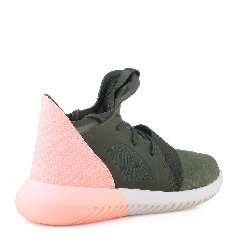 Купить женские зеленые  кроссовки adidas tubular defiant w в магазинах Streetball изображение - 2 картинки