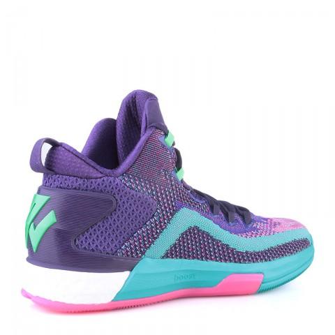мужские фиолетовые,бирюзовые, розовые  кроссовки adidas j wall 2 boost primeknit D70028 - цена, описание, фото 2