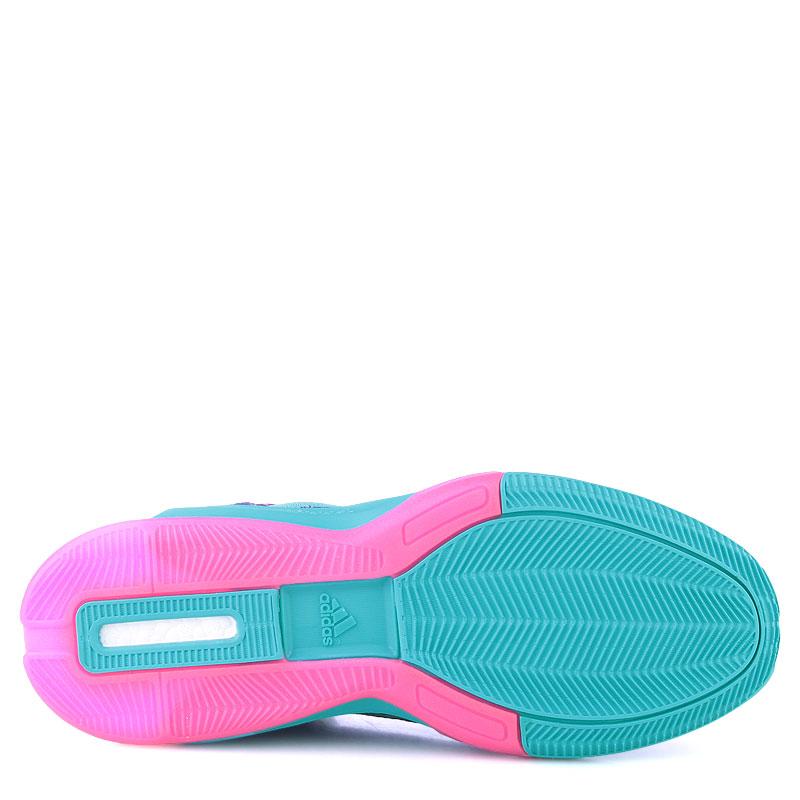 мужские фиолетовые,бирюзовые, розовые  кроссовки adidas j wall 2 boost primeknit D70028 - цена, описание, фото 4