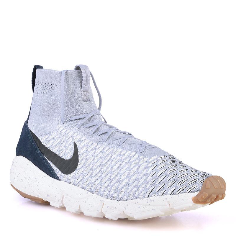 Кроссовки Nike Footscape Magista FlyКроссовки lifestyle<br>Кожа,текстиль,резина<br><br>Цвет: Серый<br>Размеры US: 8;9;10;11<br>Пол: Мужской