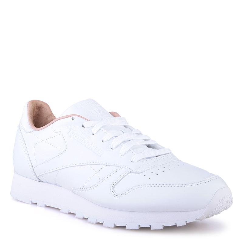 Купить мужские белые  кроссовки reebok сlassic leather pn в магазинах Streetball изображение - 1 картинки