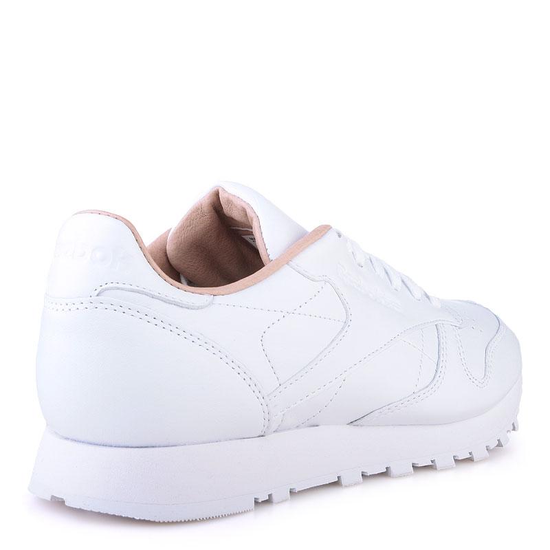 Купить мужские белые  кроссовки reebok сlassic leather pn в магазинах Streetball изображение - 2 картинки