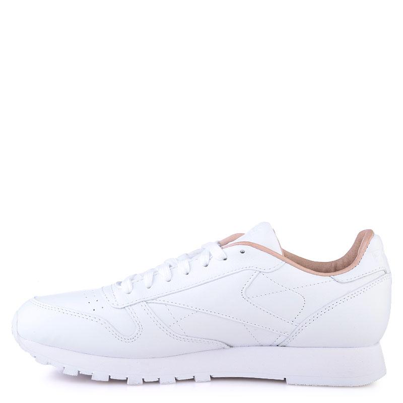 Купить мужские белые  кроссовки reebok сlassic leather pn в магазинах Streetball изображение - 3 картинки