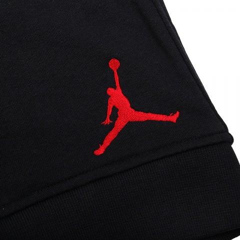 мужские черные  шорты jordan fleece short 642453-013 - цена, описание, фото 3