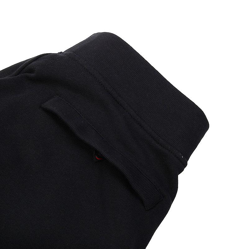 мужские черные  шорты jordan fleece short 642453-013 - цена, описание, фото 2