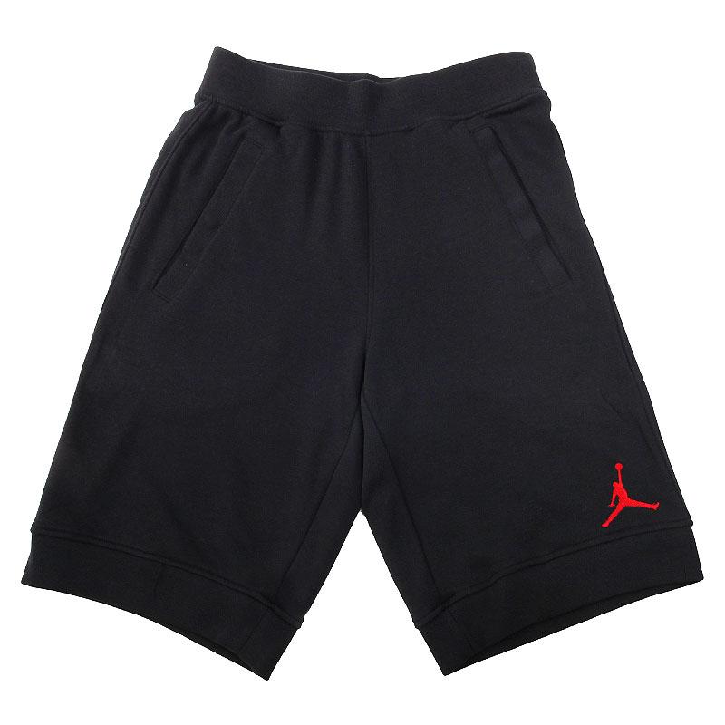 мужские черные  шорты jordan fleece short 642453-013 - цена, описание, фото 1