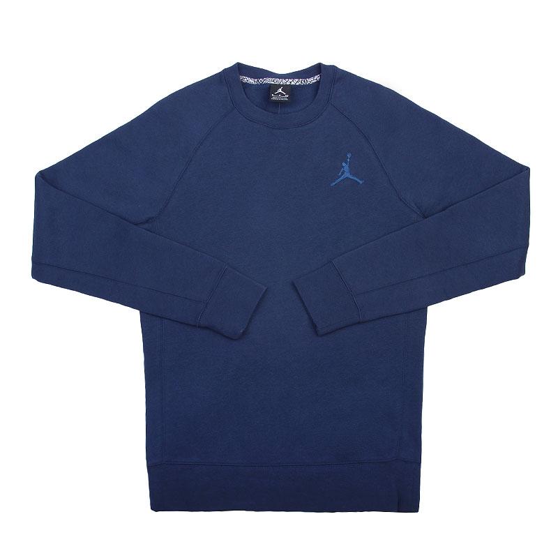 Толстовка Jordan BrushedТолстовки свитера<br>Хлопок, полиэстер<br><br>Цвет: Синий<br>Размеры US: XL<br>Пол: Мужской