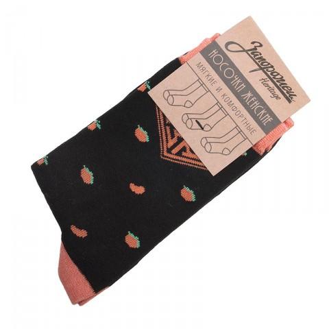 женские черные  носки запорожец heritage апельсин W Апельсин-blk - цена, описание, фото 1