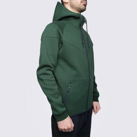 мужскую зелёную  толстовка nike tech fleece hoody 545277-373 - цена, описание, фото 4