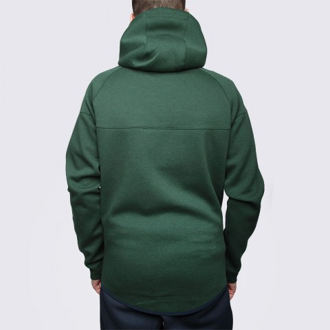мужскую зелёную  толстовка nike tech fleece hoody 545277-373 - цена, описание, фото 5