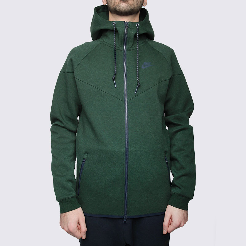 мужскую зелёную  толстовка nike tech fleece hoody 545277-373 - цена, описание, фото 3