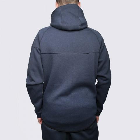Купить мужскую синюю  толстовка nike tech fleece hoody в магазинах Streetball - изображение 5 картинки