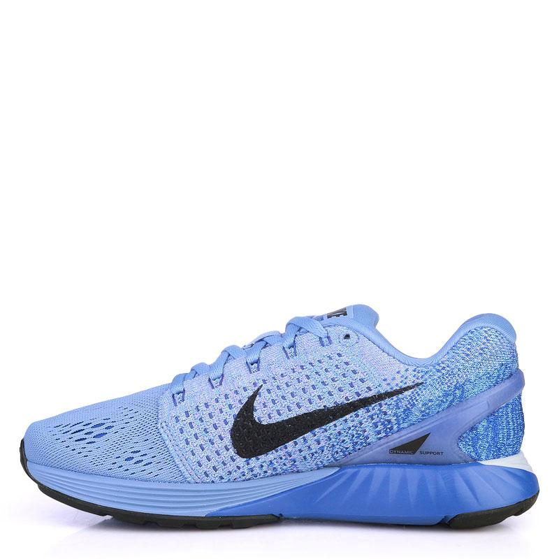 женские синие  кроссовки nike wmns lunarglide 7 747356-404 - цена, описание, фото 3