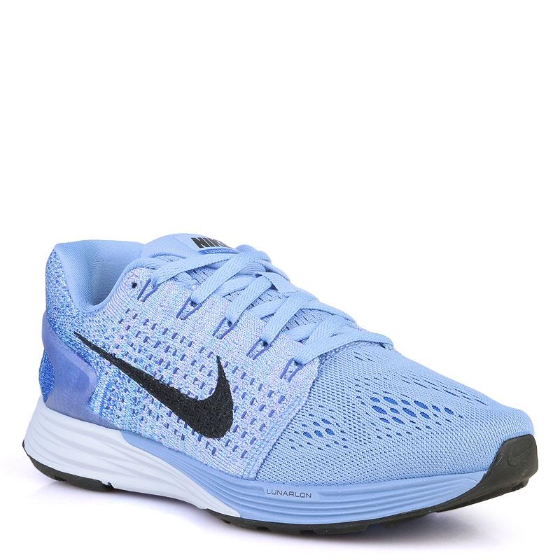 Кроссовки Nike WMNS Lunarglide 7Кроссовки lifestyle<br>пластик,текстиль,резина<br><br>Цвет: Синий<br>Размеры US: 6<br>Пол: Женский