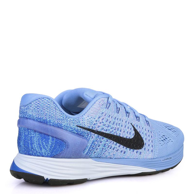 женские синие  кроссовки nike wmns lunarglide 7 747356-404 - цена, описание, фото 2
