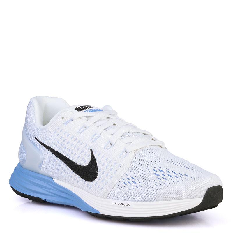 Кроссовки Nike WMNS Lunarglide 7Кроссовки lifestyle<br>синтетика,текстиль,пластик<br><br>Цвет: Белый<br>Размеры US: 7.5<br>Пол: Женский