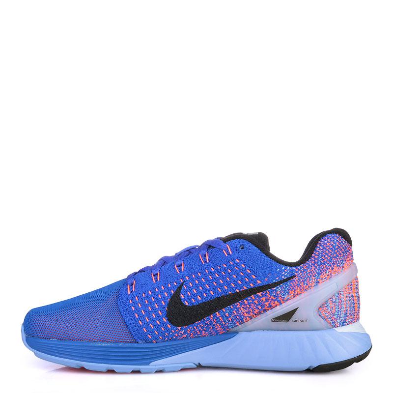 женские синие  кроссовки nike wmns lunarglide 7 flash 803567-408 - цена, описание, фото 3