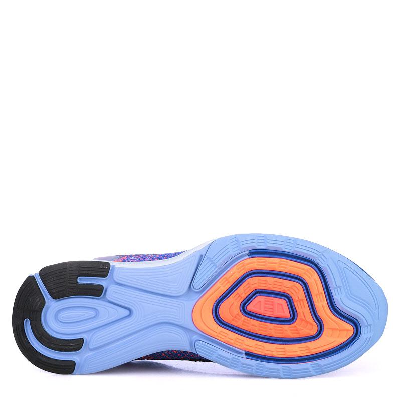 женские синие  кроссовки nike wmns lunarglide 7 flash 803567-408 - цена, описание, фото 4