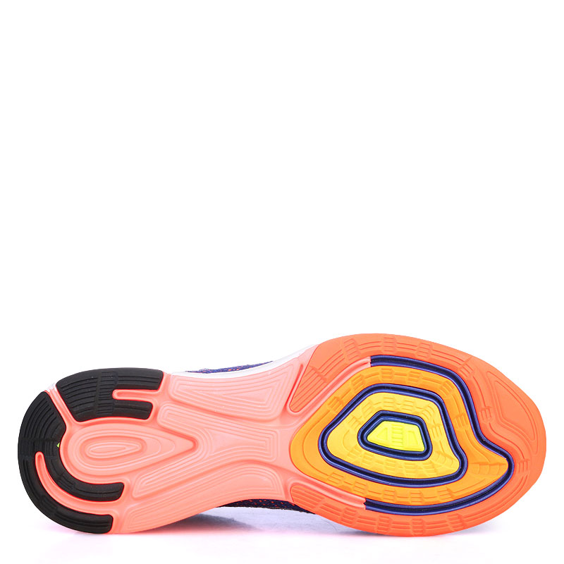 Купить мужские фиолетые,оранжевые,кораловые  кроссовки nike lunarglide 7 flash в магазинах Streetball изображение - 4 картинки