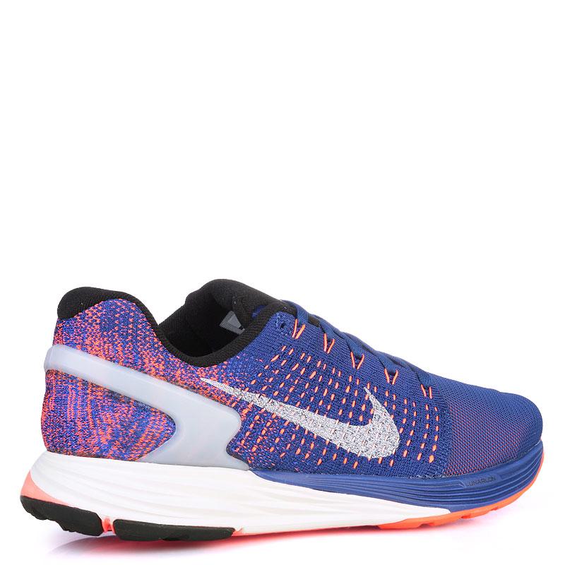 Купить мужские фиолетые,оранжевые,кораловые  кроссовки nike lunarglide 7 flash в магазинах Streetball изображение - 2 картинки