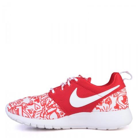 детские красные  кроссовки nike roshe one print 677784-605 - цена, описание, фото 3