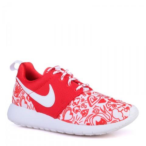 детские красные  кроссовки nike roshe one print 677784-605 - цена, описание, фото 1