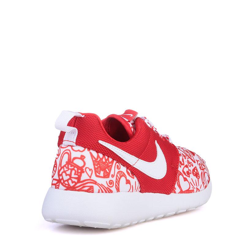 детские красные  кроссовки nike roshe one print 677784-605 - цена, описание, фото 2