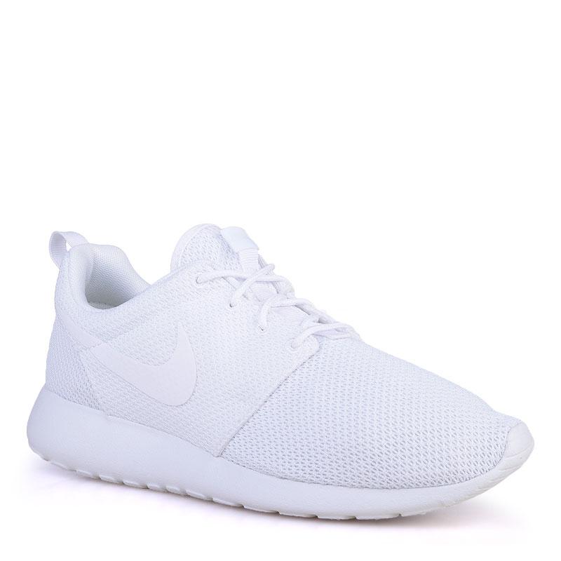 мужские белые  кроссовки nike roshe one 511881-112 - цена, описание, фото 1