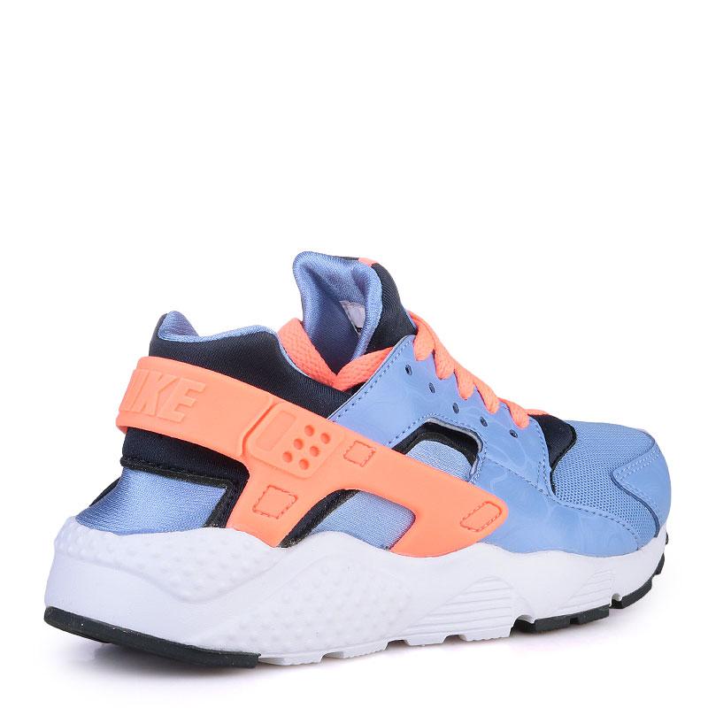 Купить детские голубые  кроссовки nike huarache run в магазинах Streetball изображение - 2 картинки