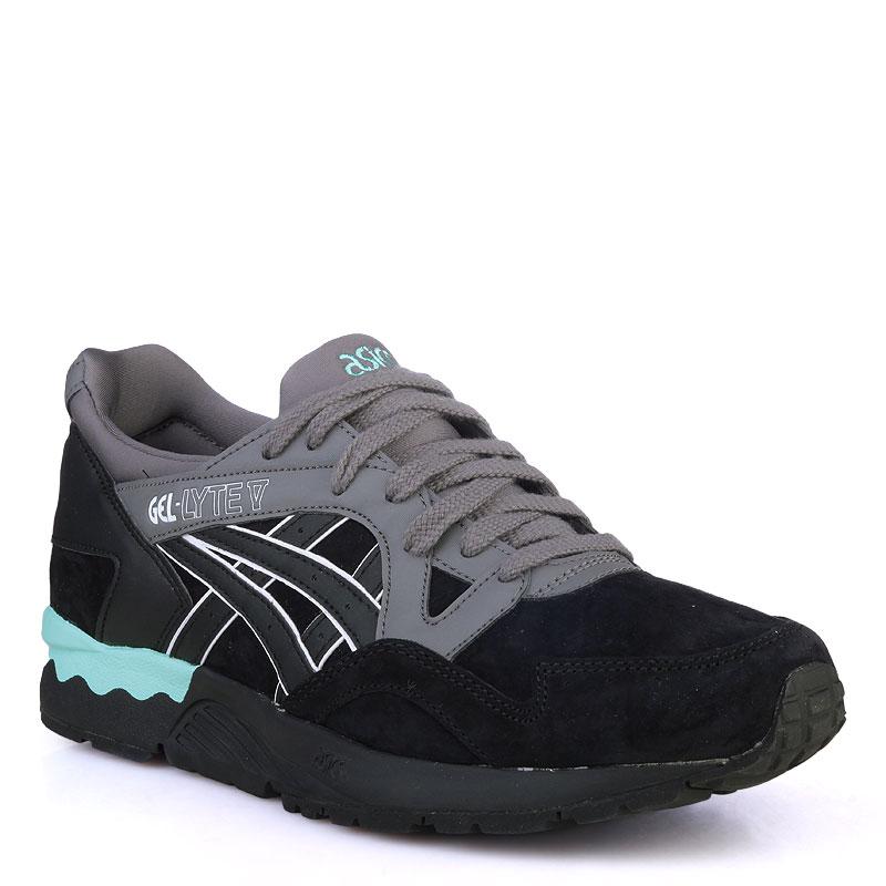Купить мужские черные,зеленые  кроссовки asics tiger gel-lyte v в магазинах Streetball изображение - 1 картинки