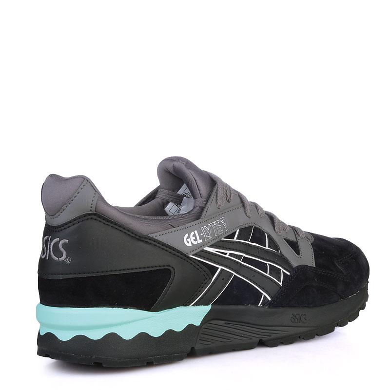 Купить мужские черные,зеленые  кроссовки asics tiger gel-lyte v в магазинах Streetball изображение - 2 картинки