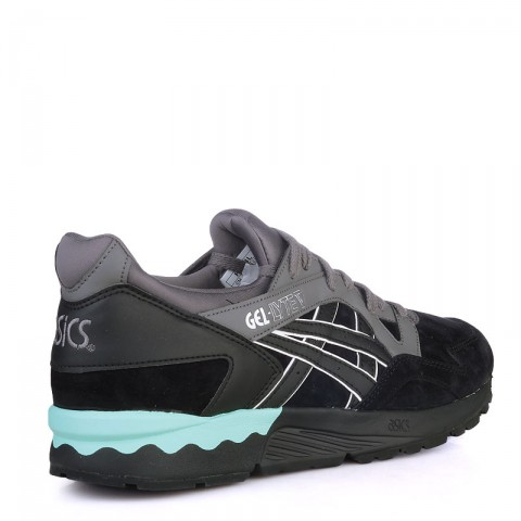 Купить мужские черные,зеленые  кроссовки asics tiger gel-lyte v в магазинах Streetball - изображение 2 картинки